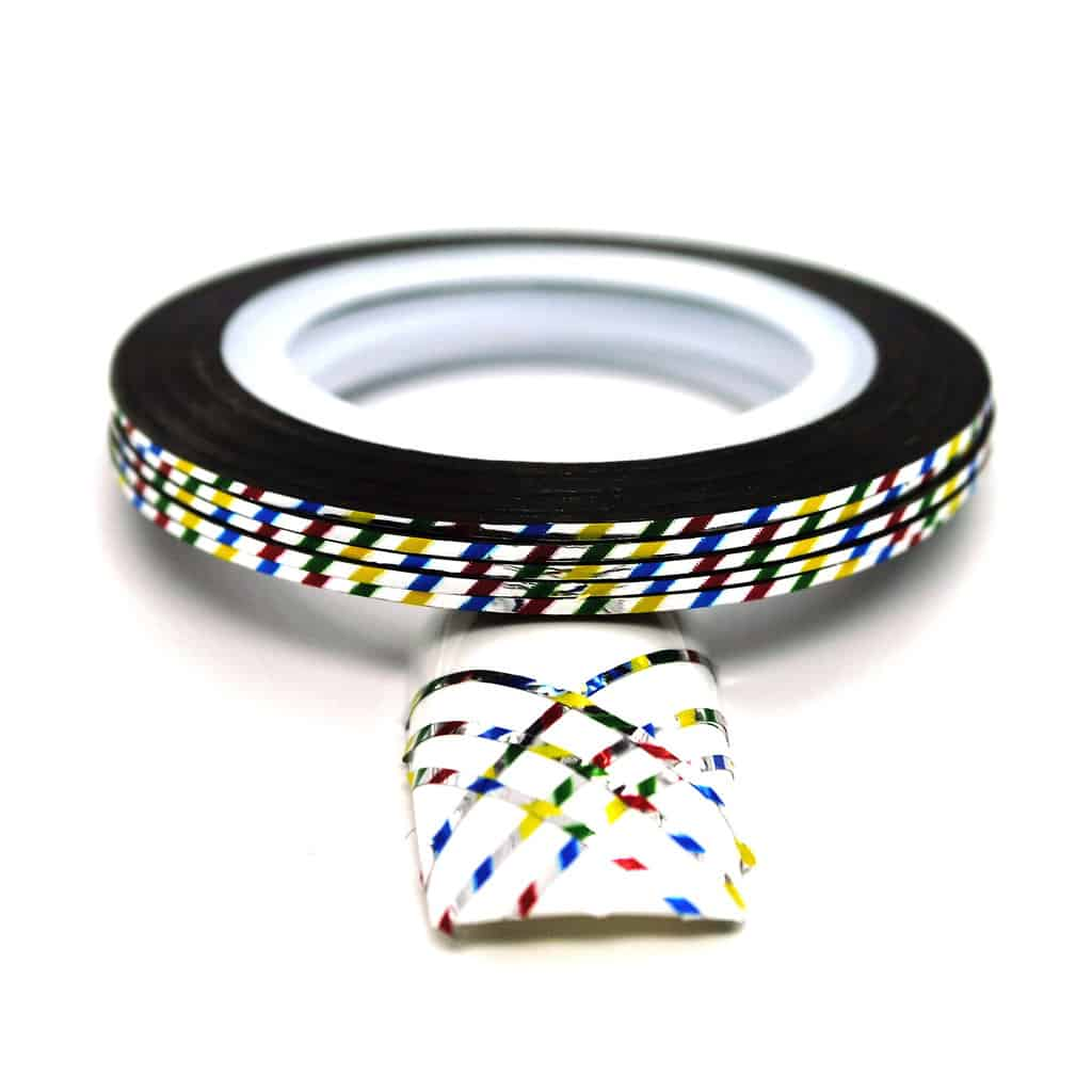 Striping tejp / Nageltejp / Nail strips Colorful