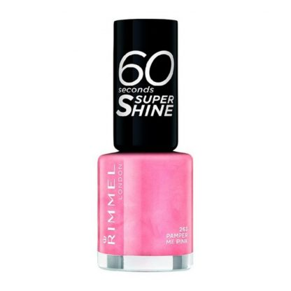 Rosa nagellack 60 Seconds Super Shine Rimmel London.